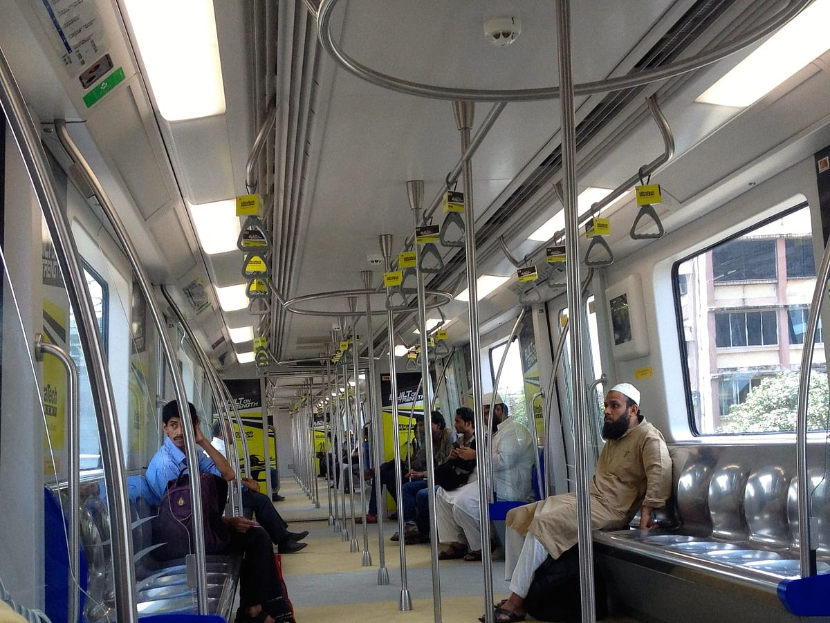 Metro in Mumbai.
