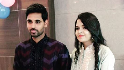 Bhuvneshwar Kumar with his fiance