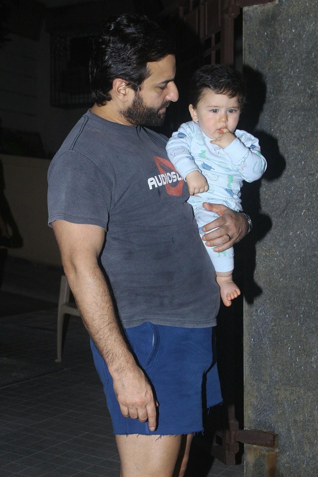 Taimur with papa Saif.