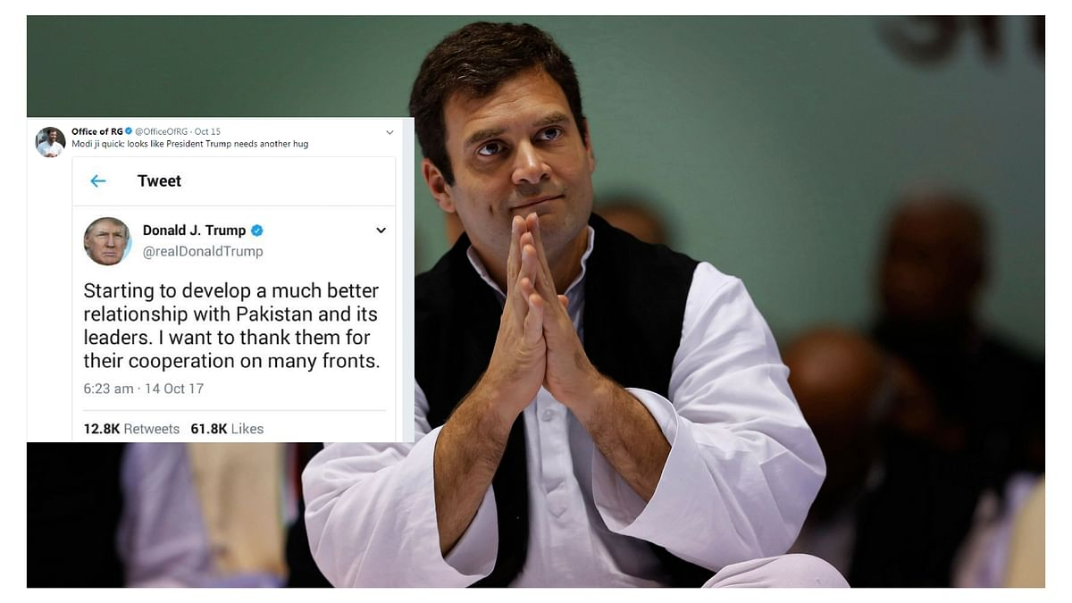 It all began with Congress VP Rahul Gandhi retweeting a post from POTUS Donald Trump.
