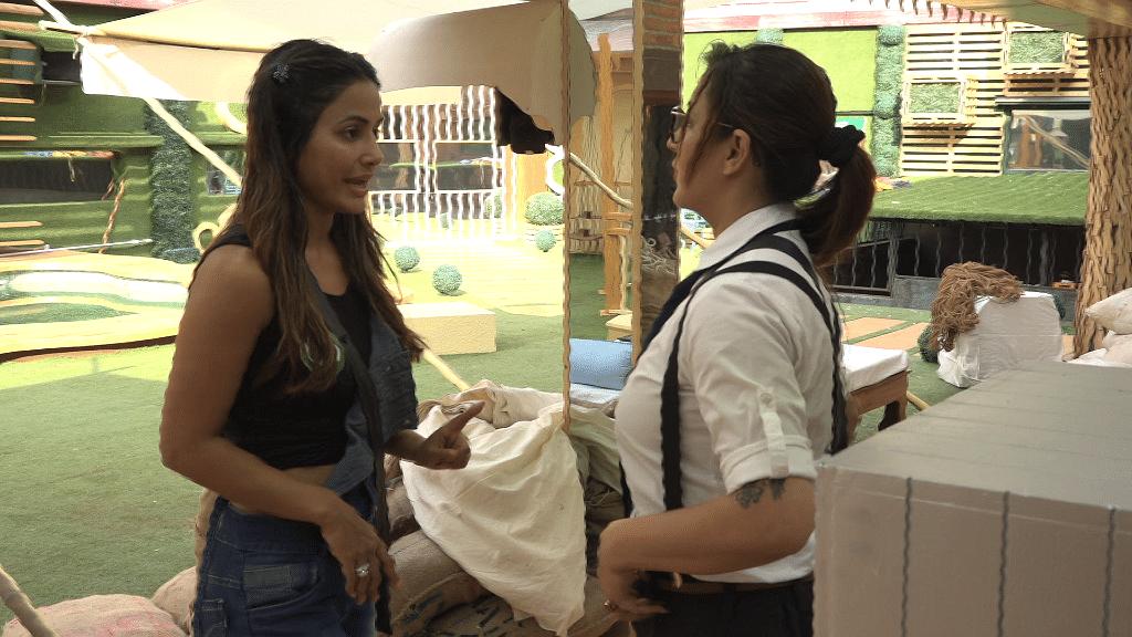Hina Khan and Shilpa Shinde plan the task against Vikas Gupta.