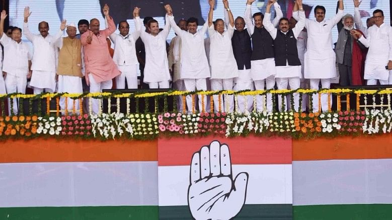 Rahul Gandhi at a rally in Nanded.