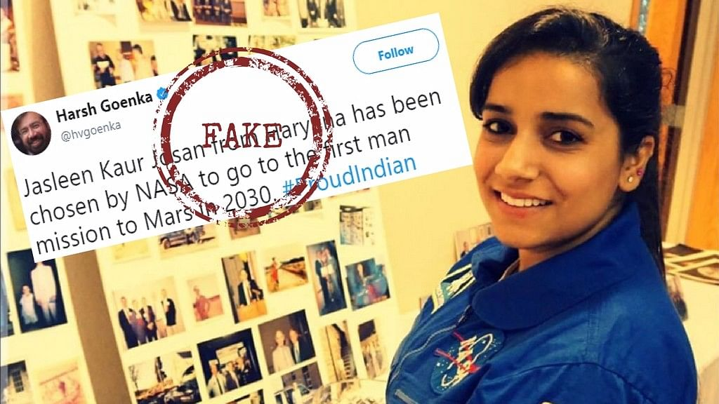 Has Jasleen Kaur Josan become the first Indian astronaut to join the 2030 Mars Mission?