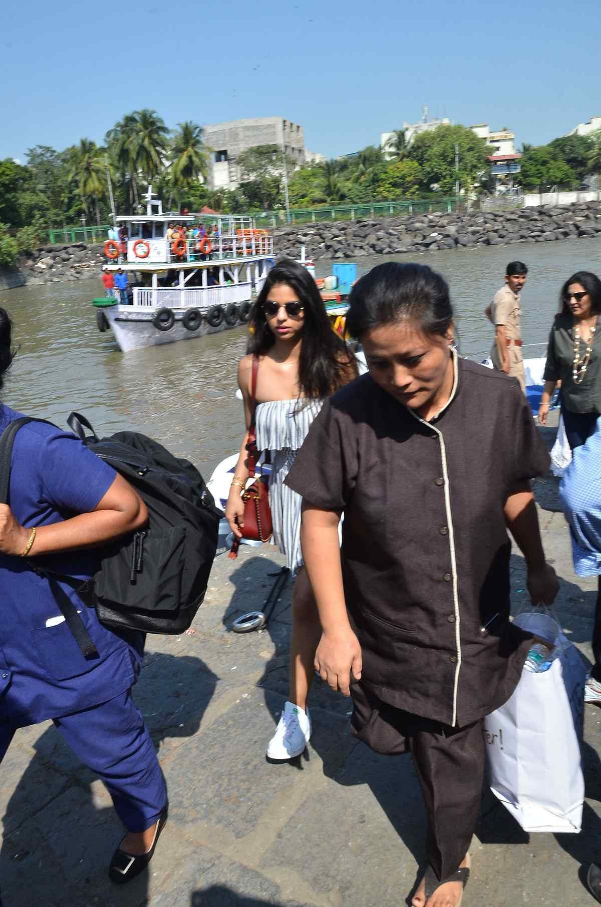 Suhana Khan spotted at the Gateway of India.