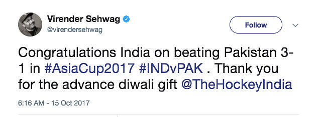 Dear Sachin, Must We Support Indian Hockey Only When We Beat Pak?