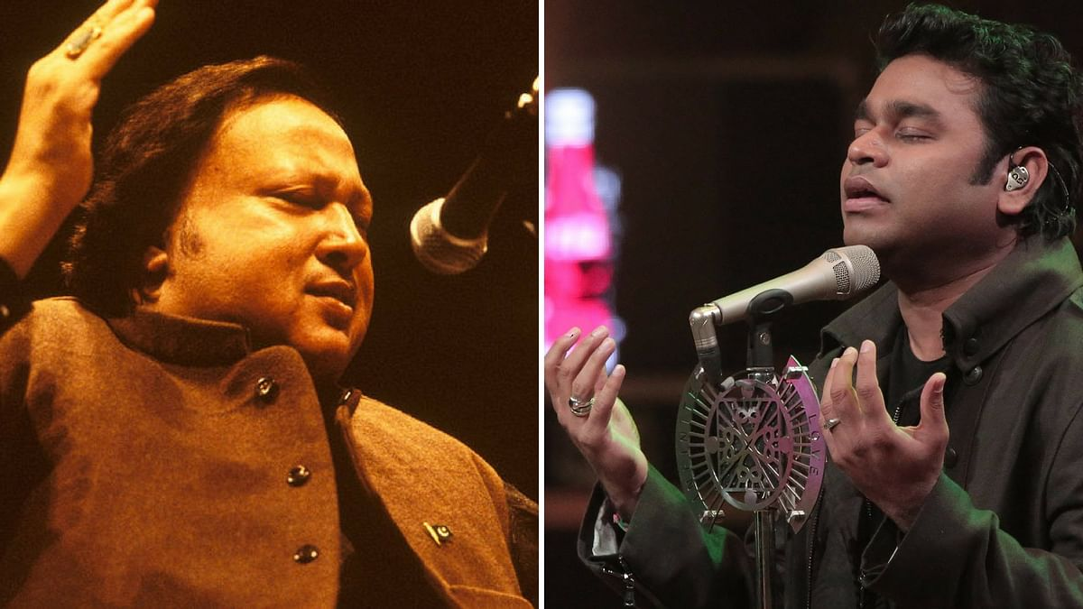 AR Rahman and Nusrat Fateh Ali Khan's <i>Gurus of Peace </i>was first a part of the <i>Vande Mataram </i>album.