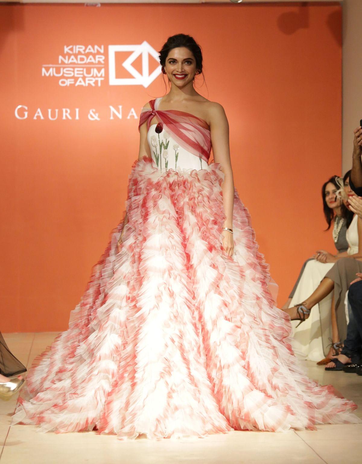 Deepika walks for Gauri & Nainika.