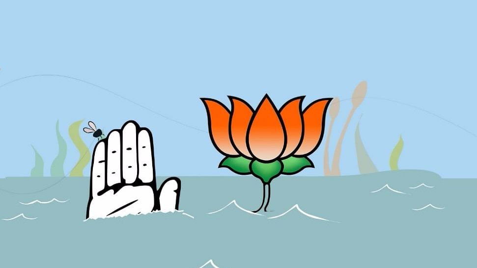 In Kerala, particularly under the governance of Chief Minister K Karunakaran, the party turned to the Sangh Parivar, whenever help was required for electoral battles with the Left Front.