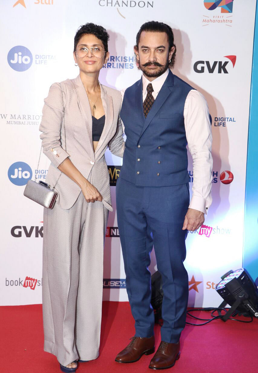 Aamir Khan and Kiran Rao at MAMI.