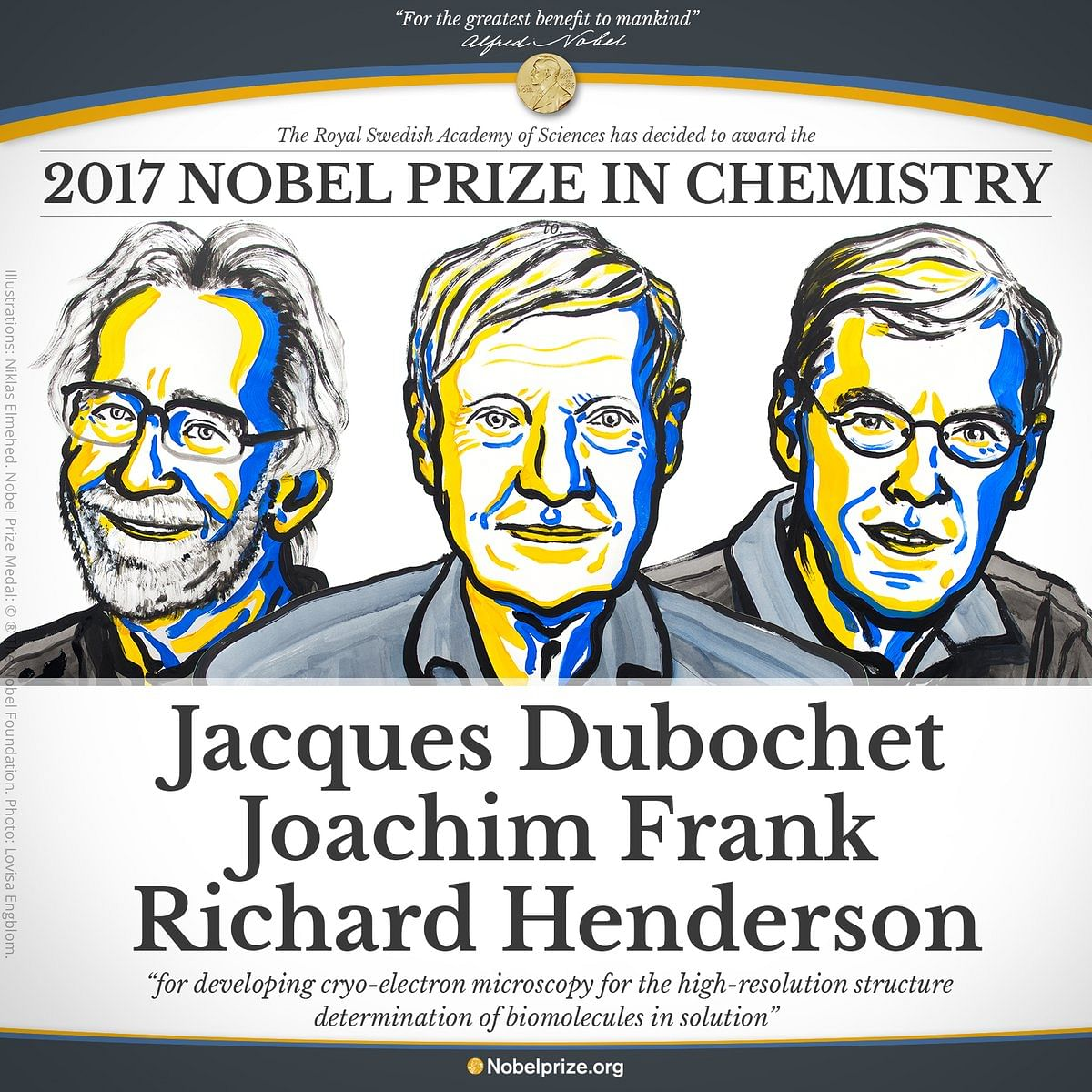 Nobel Laureates in Chemistry. (Photo Courtesy: Twitter/@NobelPrize)