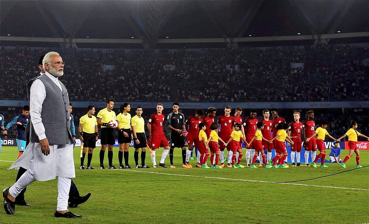In Pictures: PM Modi Graces Indian Football's Historical Moment