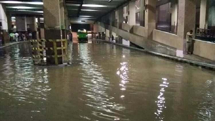 It was the sixth rain-related death in the city in the space of three days as pockets of the city were flooded by heavy rain.