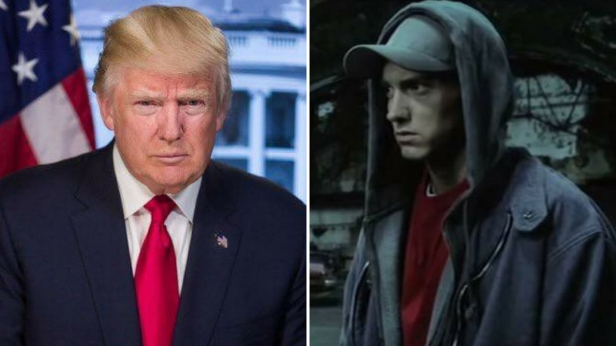 Eminem lashes out against Trump in his new video.