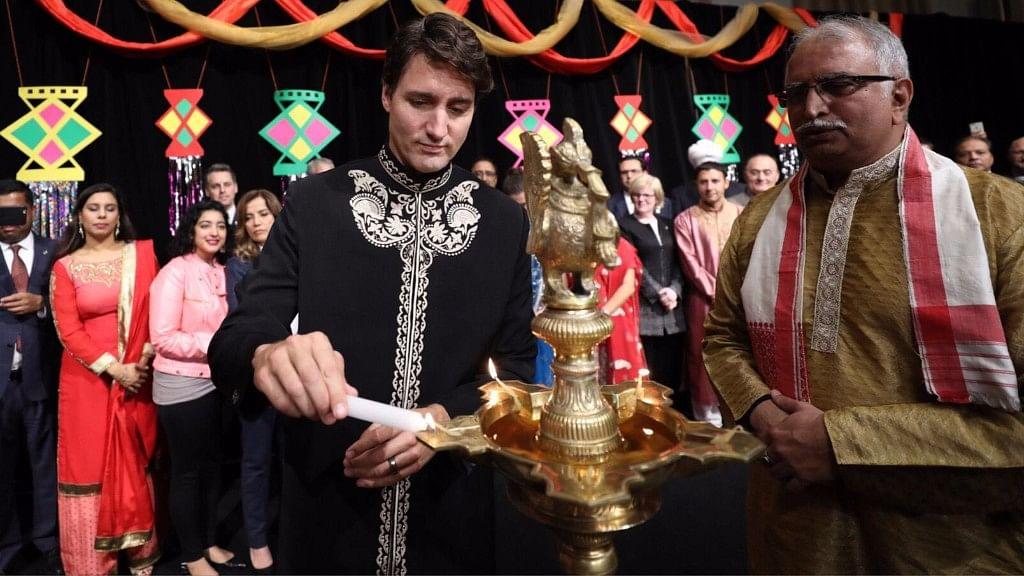 Trudeau celebrating Diwali in Ottawa