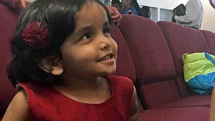 Sherin Mathews, who went missing on 7 October, was found dead in a culvert, about 1 km from her home in Dallas on 22 October.