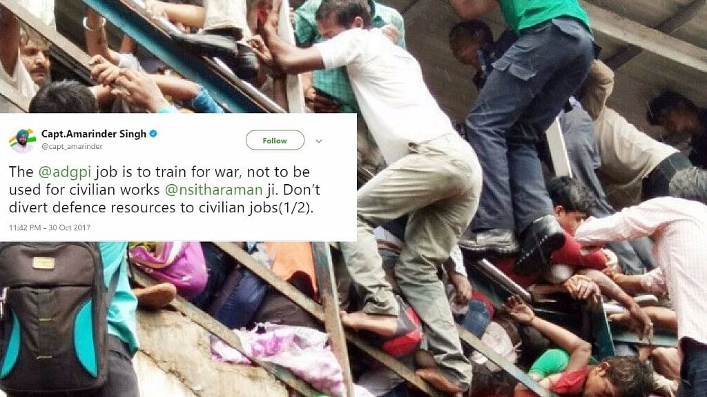 Social media erupts in outraged messages after the army was called in to build foot over bridges at Mumbai's stations.