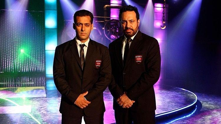 Salman Khan with Shera.