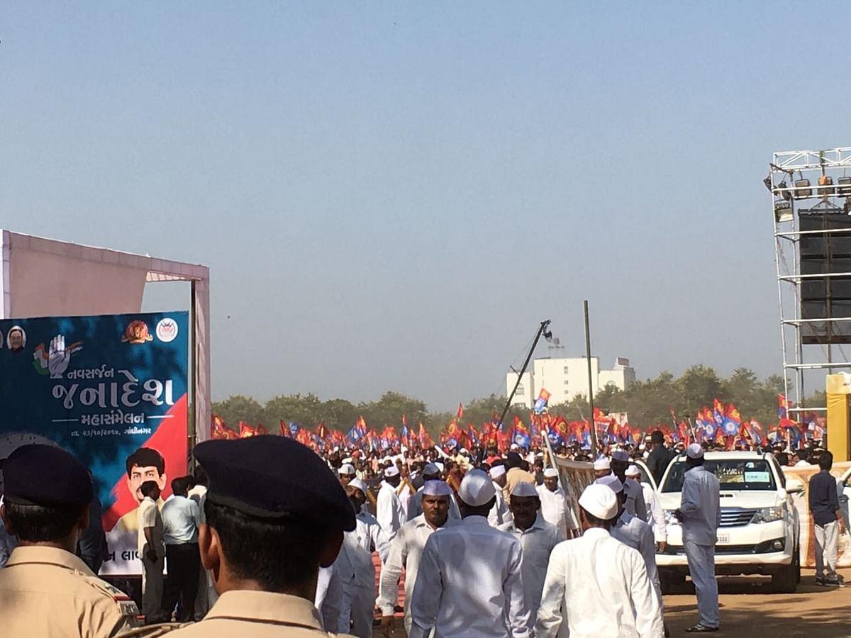 Visuals from the 'Navsarjan Janadesh' rally.