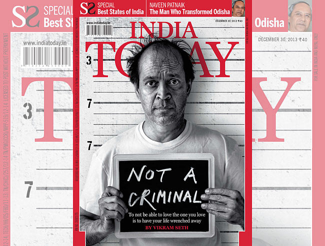 Vikram Seth on the cover of <i>India Today </i>in December 2013.