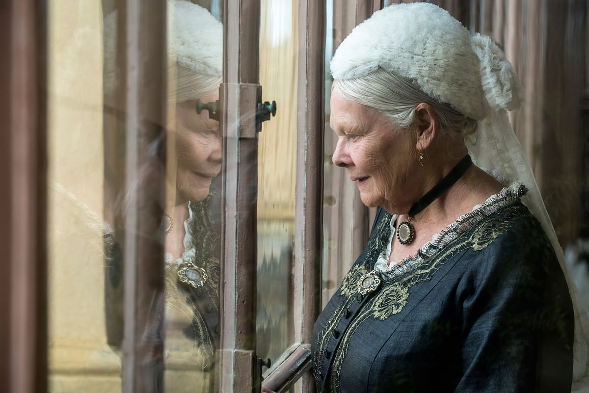 Judi Dench in a scene from <i>Victoria &amp; Abdul. </i>