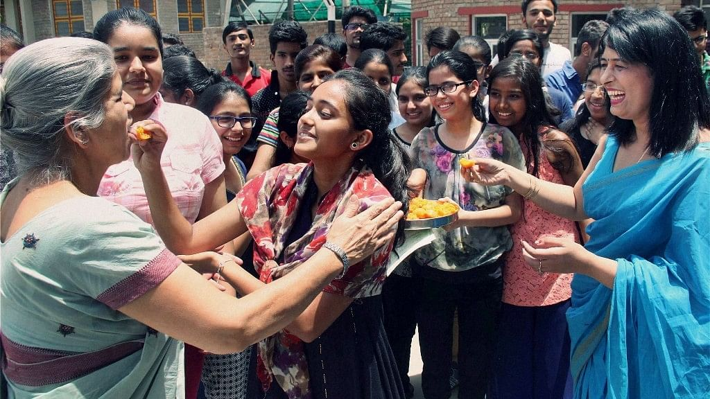 Students celebrate their success after announcement of board exams. Photo used for representational purpose.