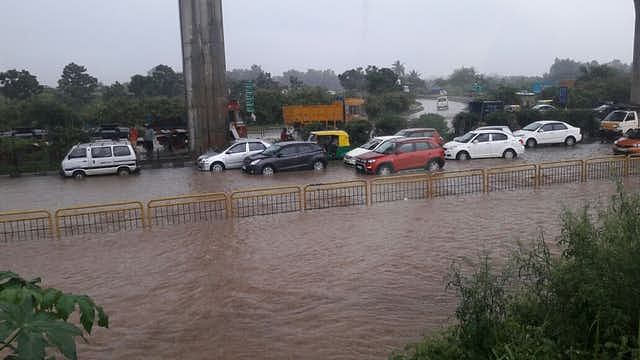 Heavy rains left the city crippled with severe water-logging and traffic jams.