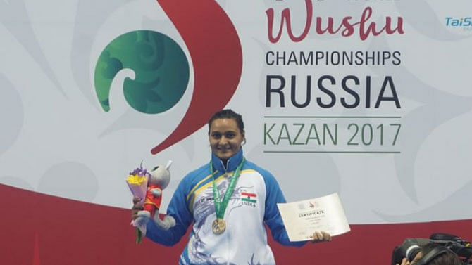 Pooja Kadian bagged India's first gold medal at the World Wushu Championships.