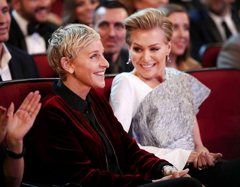 Ellen DeGeneres and partner Portia De Rossi.
