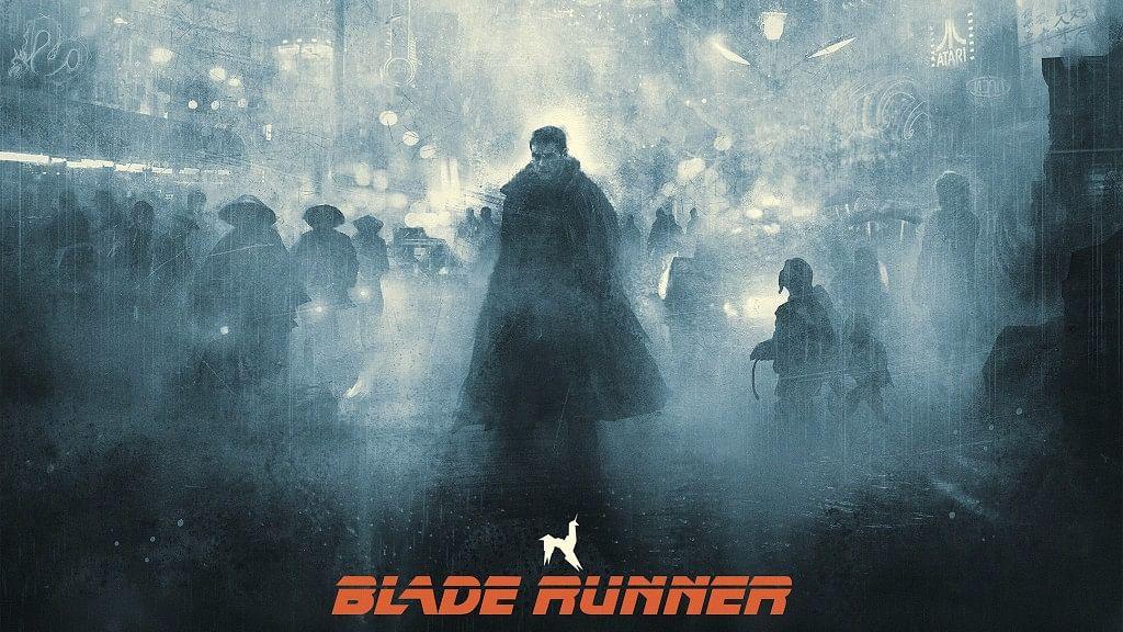 A poster of<i> Blade Runner</i>.