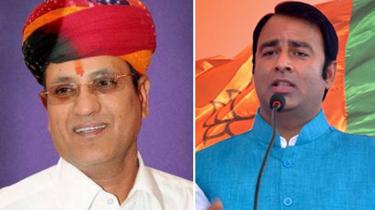 Congress MLA Rameshwar Dudi and BJP MLA Sangeet Som.