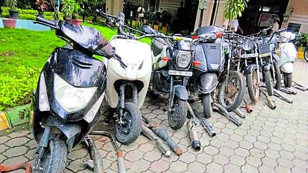 Motorcycles seized by Bengaluru police.