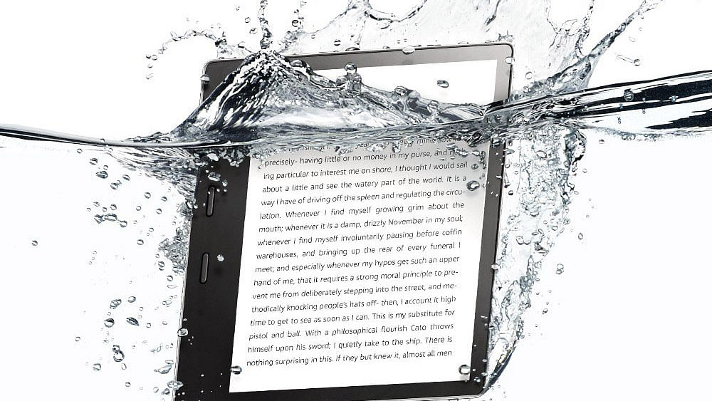 The new Kindle Oasis comes with a bigger screen.