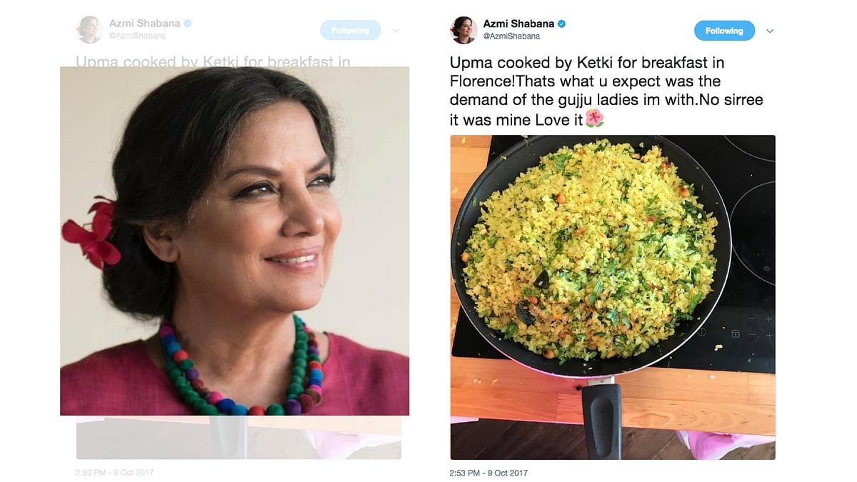 Shabana Azmi's most memorable tweet from Italy.