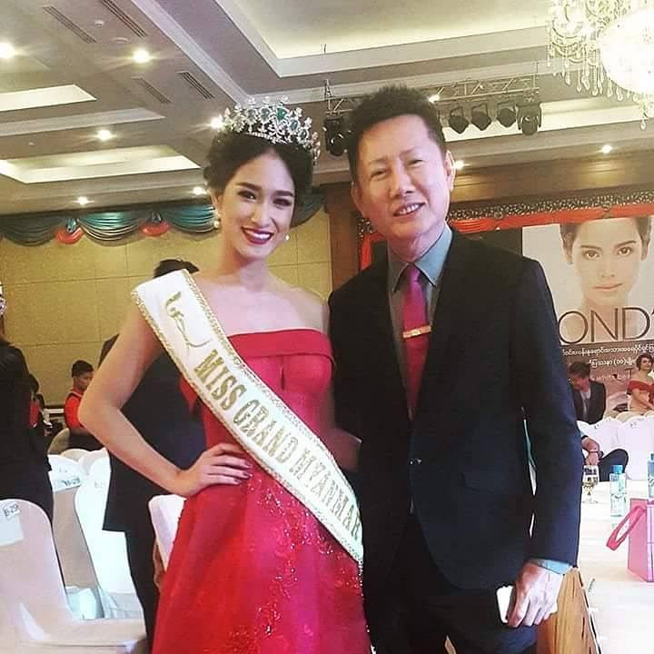 Shwe Eain Si came second at the Miss Universe Myanmar competition winning the title of Miss Grand Myanmar, and was due to represent her country at the Miss Grand International competition later this month.