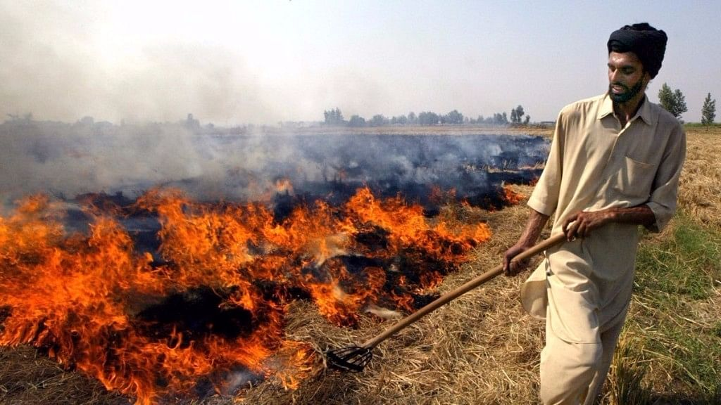 Stubble burning in Punjab and Haryana leads to a rise in pollution levels in the neighbouring Delhi NCR.