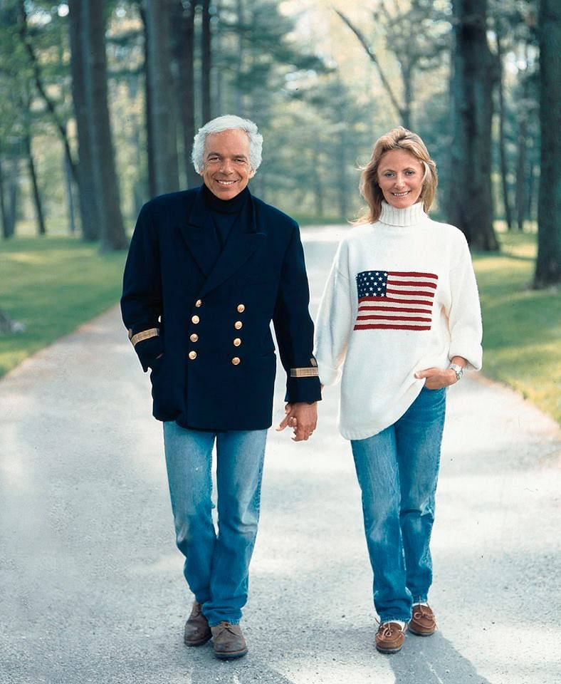 Ralph and Ricky Lauren in Bedford, NY, 1996, clicked by photographer Victor Skrebneski.