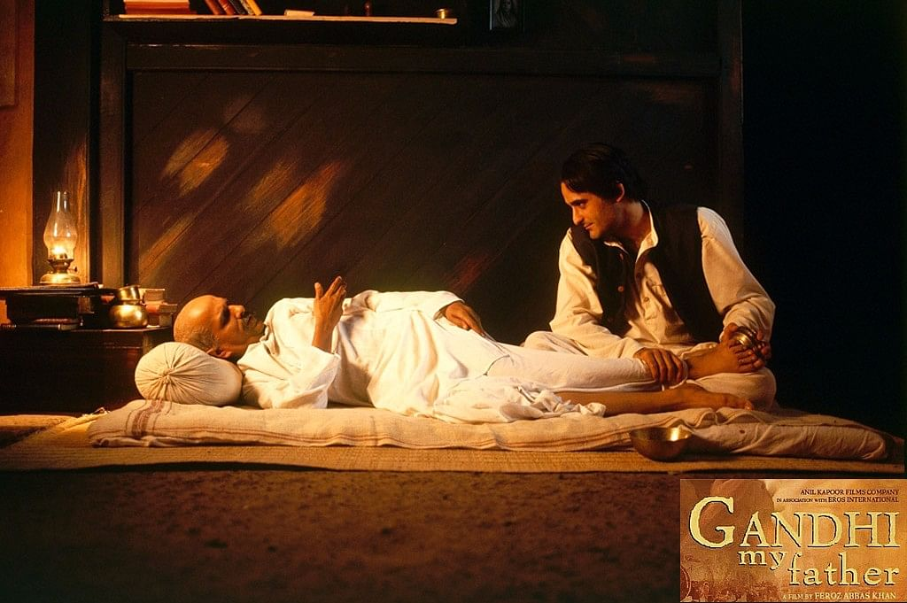 Darshan Jariwala and Akshaye Khanna in <i>Gandhi My Father.</i>