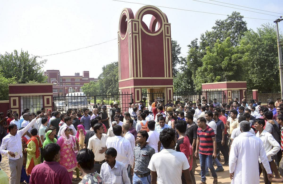 Protests erupted outside the school following the murder of 7-year-old Pradhyumn.
