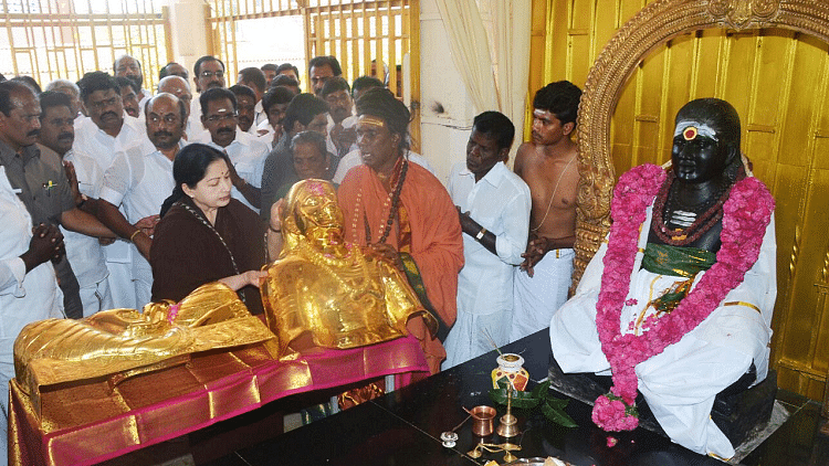 Madurai branch of the Bank of India declined to hand over a golden armour donated by former Chief Minister J Jayalalithaa to commemorate the leader