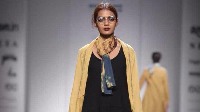 ANJU MODI at Amazon India Fashion Week Spring Summer 2018.