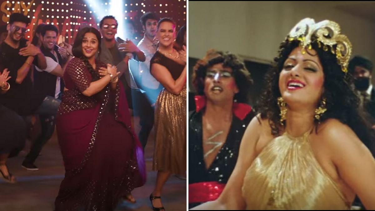 Vidya Balan and Sridevi in their own versions of <i>Hawa Hawai</i>.
