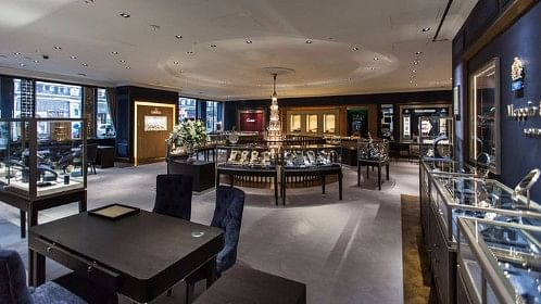 The Mappin and Webb showroom on Regent Street.