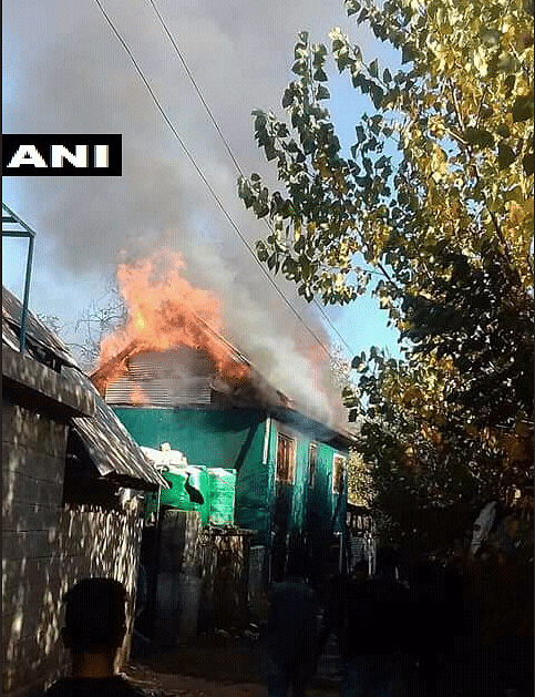 Day After PDP Worker Shot Dead in Shopian, Mob Burns His House