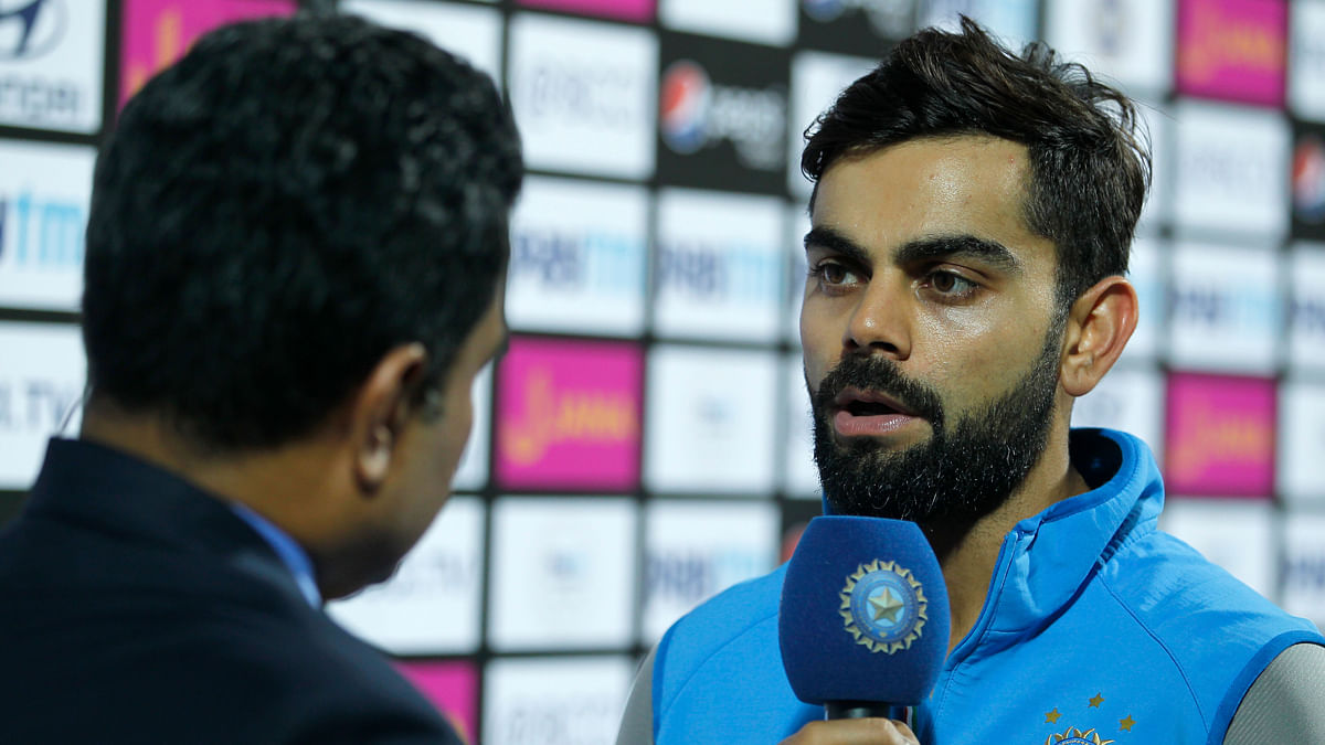 Virat Kohli speaks about his team's poor performance during the presentation ceremony.