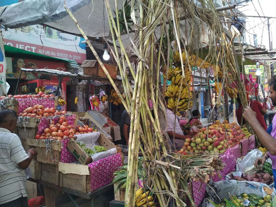 Fruit and vegetable vendors at the festival. <i>(Photo: <b>The Quint</b>)</i>