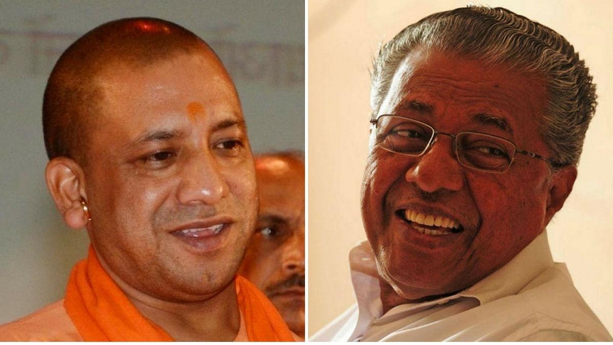 Uttar Pradesh Chief Minister Yogi Adityanath and Kerala Chief Minister Pinarayi Vijayan.