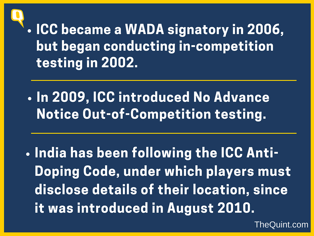 Not 'Breaking News', BCCI Has Been  Dope Testing Since 2010!