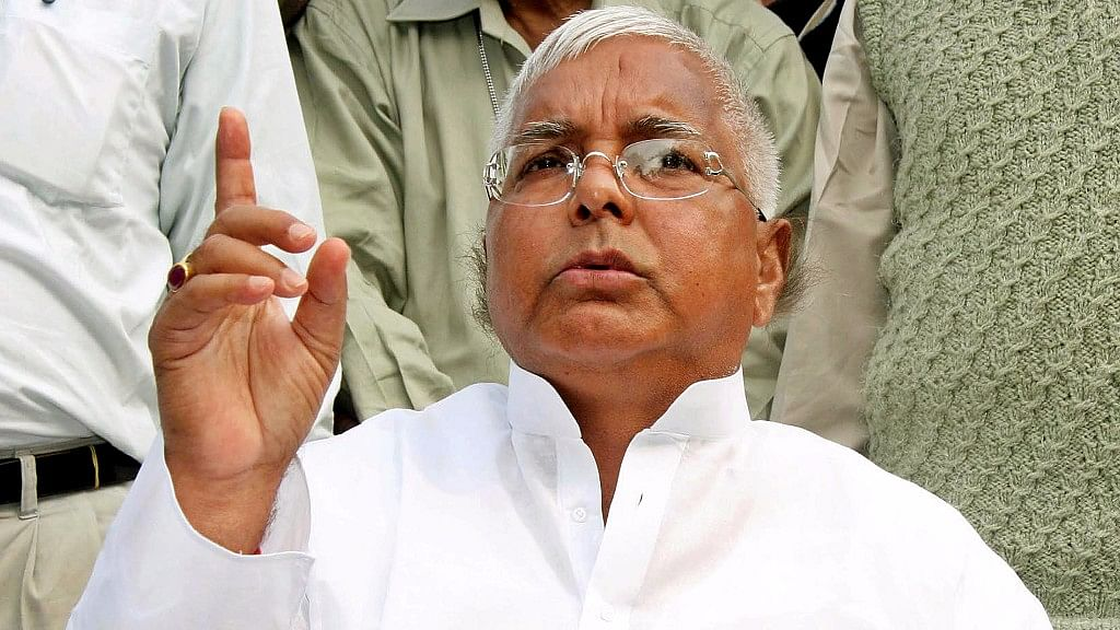 File photo of  Rashtriya Janata Dal (RJD) chief Lalu Prasad Yadav.