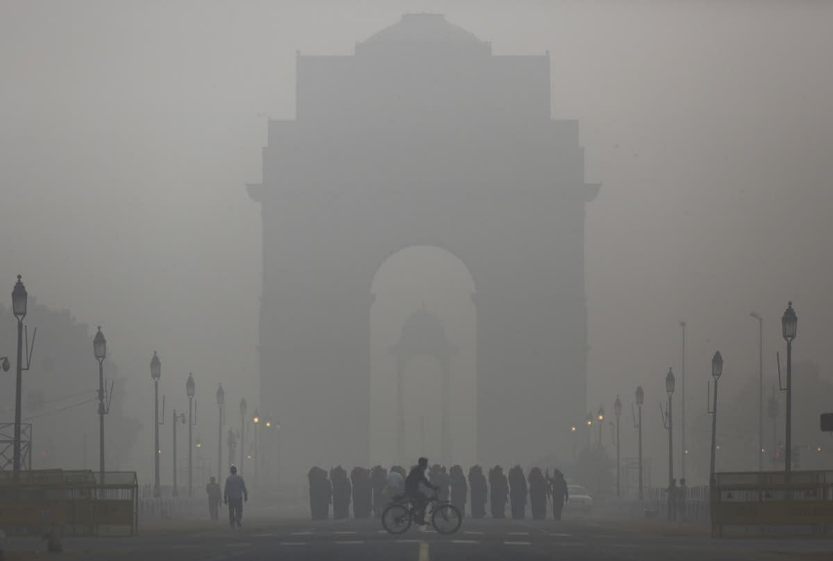 Delhi hit by alarming level of air pollution in 2016.