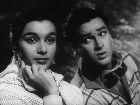 Asha Parekh with Shammi Kapoor in <i>Dil Deke Dekho.</i>
